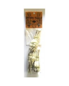 Green Tree White sage mini smudge sticks (3 per pack)
