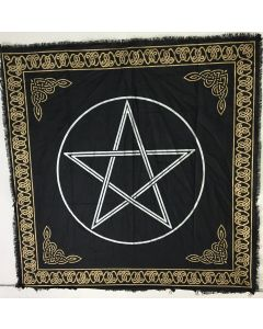 "Cotton Altar cloth 24""x24""  PENTAGRAM"