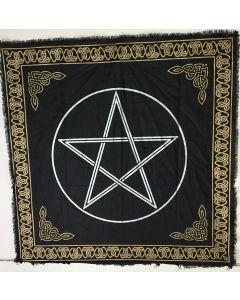 "Mantel de Algodon para Altar Pentagrama 24x24"""