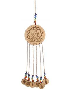 WOOD LASER ENGRAVED HANGING-BUDDHA