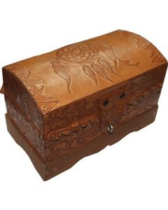 Leather Box with Dreamcatcher