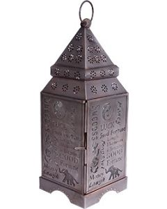 LANTERN LUCK SILVER ANTIQUE 12 x 4.5 in