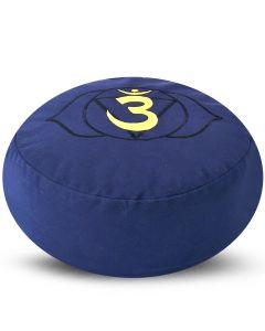 Meditation Cushion Round Third Eye Chakra Buckwheat Filled