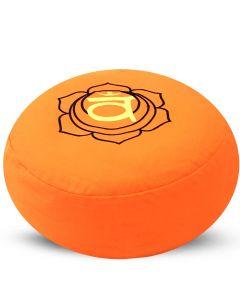 Meditation Cushion Round Sacral Chakra Buckwheat Filled