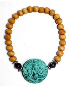 Bracelet Sandalwood with Turquoise Tara