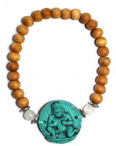 Sandelhout Armband Met Turkoois Hanuman