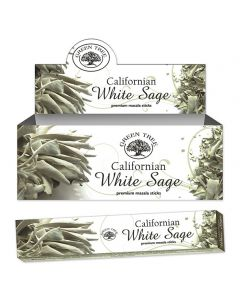 Green Tree Californian White Sage Natural Incense 15 grams