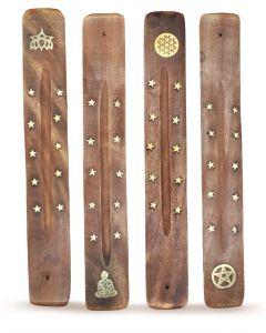 Incense Burner with Brass Inlay(Pentacle,Buddha,FOL,Lotus)