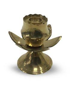 Lotus brass incense holder