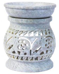 Pillar shape white aromaburner