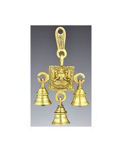 Laxmi Solid Brass Wall Hanging Chime // with Three Bells