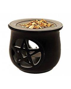 Pentacle Black Soapstone Aromaburner
