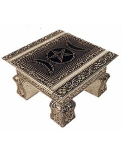 3006- White Metal Lined Altar Table