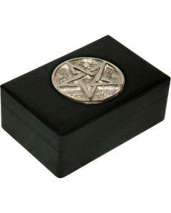 Tarotbox chrome inlay pentacle 15.5cmx10cm