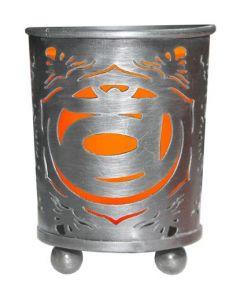 Chakra Votive Holder Orange Glass Insert - Sacral