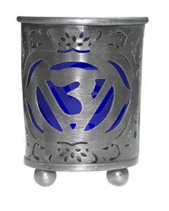 Chakra Votive Holder Cobalt Glass Insert - Third Eye