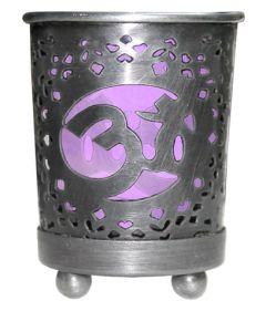 Chakra Votive Holder Purple Glass Insert - Crown