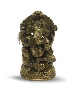 Ganesh Sitting 20 cm Gold Finish
