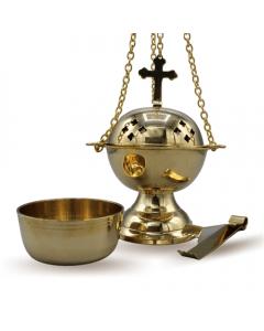 """Brass Hanging incenseholder 6"""" set of 3pcs."""