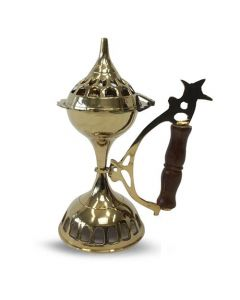 Incense burner with handle (20cm)