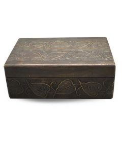 Storagebox gold copper with leaves
