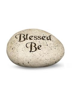Carved Stone Pebbles Blessed Be (3.5 Dia)