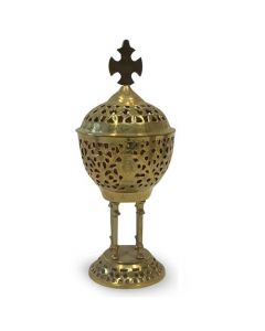 Akropol Incense Holder with Cross (20cm)