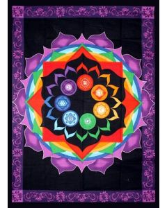 Cotton RainBow Chakra Kleed 130cm x 190cm