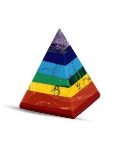 Pirámide De Piedra - 7 Chakra 25-30 Mm