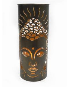 Metal Floor Candle Holder Buddha  Small 47cms dia 20cms