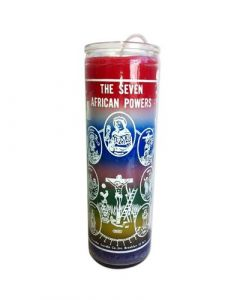 Screened candle  7 African powers (7 colours)