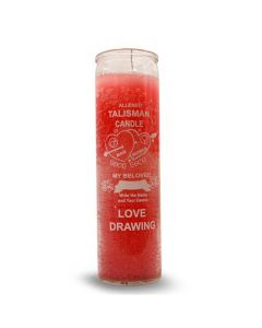 Screened candle  Love Drawing
