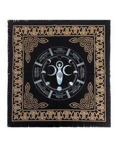 Altar Cloth Wheel of the Year 60cmx60cm