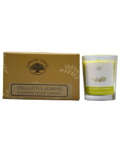 Green Tree Delightful Jasmine votive candles 55 grams