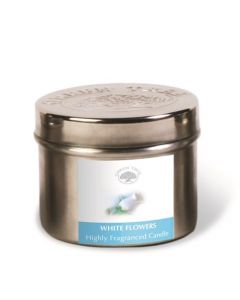 Green Tree White Flowers Candle 150 Grams