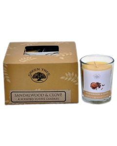 Green Tree Sandalwood & Clove votive candles 55 grams