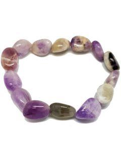 BraceletsTumbled Stones -Chevron Amethyst