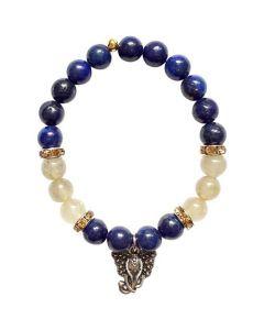 Bracelet Lapis Rutilated with Ganesha pendant
