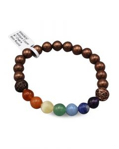 Bracelet Copper beads and Chakra beads