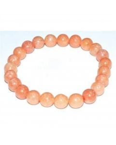 Bracelet Peach Calcite 8mm