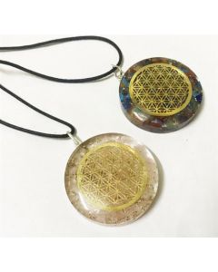 Mix orgone pendents with black cord fol