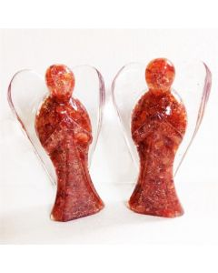 Orgone angel figurines-Carnelian 20cm