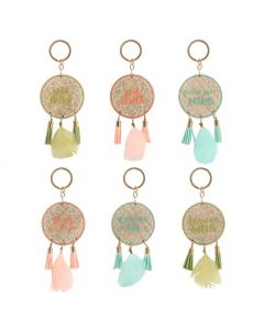 A Boho Dreamcatcher Hanging Keychain [Display] 30 units