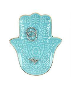 Turquoise Hamsa Hand Jewellery Dish