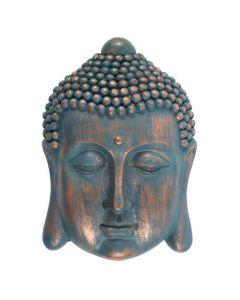 Cabeza De Buda Con Placa Azul