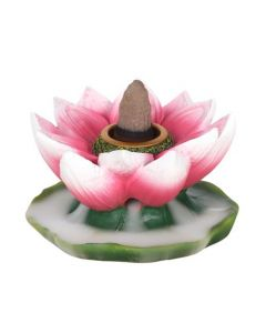 Colourful Lotus Backflow Incense Burner