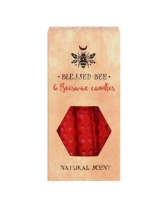 Pack of 6 'Red' Beeswax Spell Candles