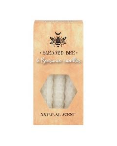 Pack of 6 'White' Beeswax Spell Candles