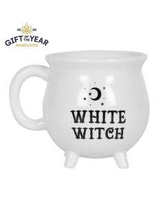 White Witch Cauldron Mug 5056131106604