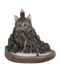 Grey Wolf Cliff Backflow Incense Burner